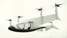 Flying taxi unveiled at Hampshire airshow
