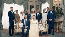 William and Kate release family photos of Louis's christening