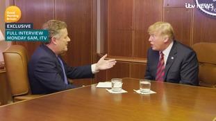 Donald Trump spoke to Piers Morgan for ITV's Good Morning Britain.