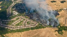 Grass fire the size of 150 football pitches in Wanstead Flats