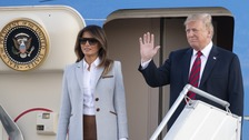 Trump and Putin land in Helsinki for face-to-face talks