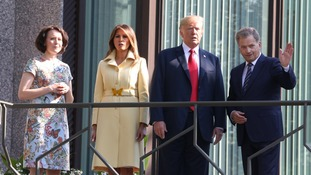 President Trump met Finnish President Sauli Niinisto before his summit with Putin.