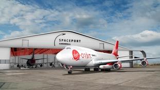 Virgin Orbit aircraft carrying LauncherOne