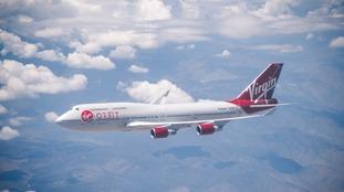 Virgin Orbit flying in the air