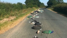 Fly tipper leaves 100 metres of rubbish along road in Stapleton