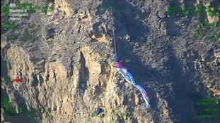 Paraglider rescued after Jurassic Coast crash