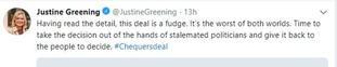 Justine Greening tweet