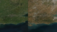 Effects of London's long, hot summer seen from space
