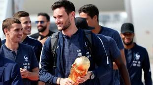 Captain Hugo Lloris arrives back home with the famed trophy.