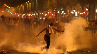 There were some clashes in the streets of France following their World Cup victory.