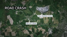 Fifteen hurt after bus crashes with tractor in Newtownards