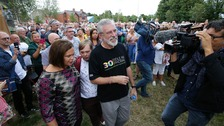 Sinn Féin hold solidarity rally for Gerry Adams in west Belfast