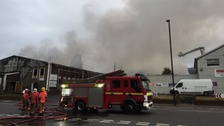 Firefighters tackle huge 'industrial complex' blaze in Manchester