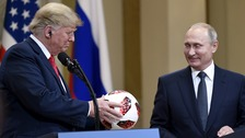 US President Donald Trump and Russian President Vladimir Putin.