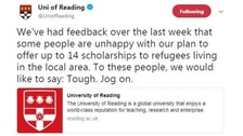 University tells critics to 'jog on'