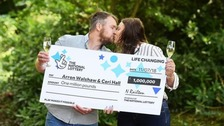 Lotto winners thank shopper for letting them enter draw before deadline