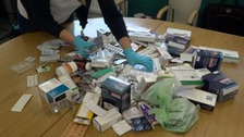 Over 33,000 prescription tablets recovered from drug disposal bins