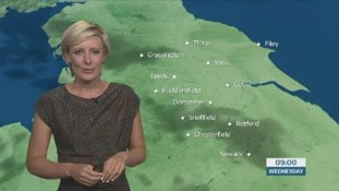 The morning weather forecast with Helen Plint