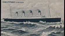 The Titanic postcard could fetch £20,000 at auction