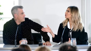 Robbie and Ayda at the press launch