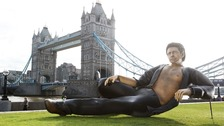 Giant semi-naked Jeff Goldblum statue pops up in front of Tower Bridge