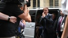 Sir Cliff Richard arrives at the High Court in London.