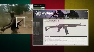 A weapon in the video was identified as a Zastava M21 S rifle commonly used by the soldiers.