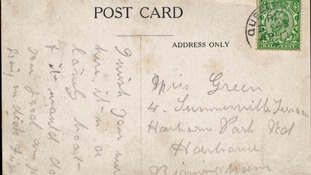 The note was addressed to Nell Green, from Birmingham. It was written just days before the Titanic disaster.