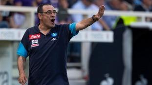 Maurizio Sarri coaching Napoli.
