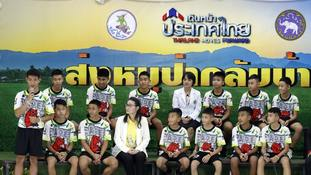 Thai boys rescued from flooded caves relive 'miracle' moment divers found them