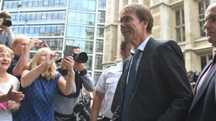 Sir Cliff Richard arrives at the High Court in central London.