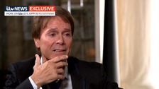 Emotional Sir Cliff tells ITV News of his 'most wonderful relief'