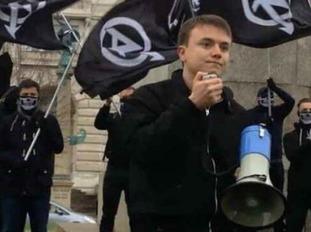 Jack Renshaw at a National Action rally
