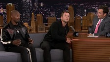 Taron Egerton sings Calon Lân during American TV interview