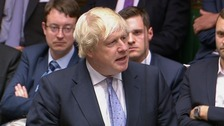 Boris Johnson slams PM's Brexit plan in resignation speech