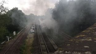 An investigation will now look into what caused the blaze on board the train from Birmingham New Street to Glasgow.