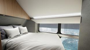 The Airlander 10 has private en-suite bedrooms.