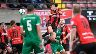 Crusaders and Ludogorets in Champions League qualifying first round action