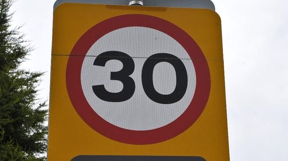 30 mph speed sign