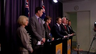 Officials speak about the investigation at a press conference in Canberra