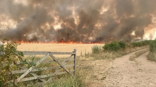 The fire broke out on Weybourne Road.