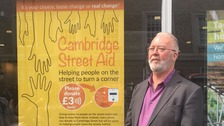 Contactless donations to help Cambridge's homeless