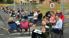 More than 130 parents queue from 3am for school breakfast club