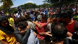 Relieved parents were reunited with their children after the siege ended.