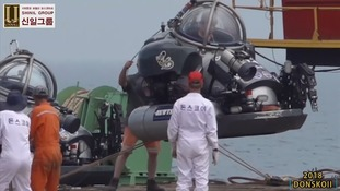 Divers had been using specialised equipment to get close to the sunken ship.