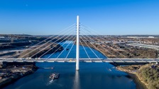 The Northern Spire bridge now needs painting and inspected before it can formally open.