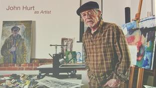 Sir John Hurt in his studio.