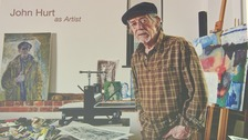 Sir John Hurt in his studio.