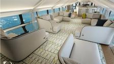 Passengers will be able to enjoy 'horizon-to-horizon' views on Airlander 10.