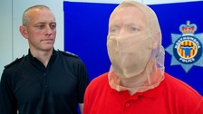 The spit guards are put on any suspect who the officer believes might spit at them.